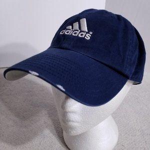 adidas Navy Blue Logo Embroidery Adjustable Hat